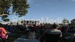 Accessories, Accessory, Apparel, Audience, Bed, Chair, Classroom, Clothing, Concert, Crowd, Female, Festival, Food, Furniture, Grass, Guitar, Guitarist, Human, Indoors, Lawn, Lecture, Leisure Activities
