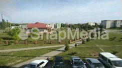 Abies, Automobile, Building, Campus, Car, City, Coupe, Fir, Grass, Human, Landscape, Lawn, Nature, Neighborhood, Outdoors, Parking, Parking Lot