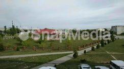 Abies, Architecture, Asphalt, Automobile, Building, Campus, Car, City, Fir, Flagstone, Grass, Housing, Human, Intersection, Landscape, Lawn, Nature, Neighborhood, Outdoors