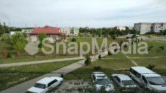 Abies, Aerial View, Asphalt, Automobile, Building, Campus, Car, Coupe, Fir, Grass, Human, Intersection, Landscape, Nature, Neighborhood