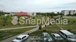 Abies, Aerial View, Asphalt, Automobile, Building, Campus, Car, Coupe, Fir, Grass, Human, Intersection, Landscape, Nature