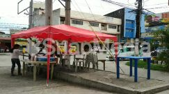 Apparel, Automobile, Awning, Bicycle, Bike, Building, Bus, Cafe, Cafeteria, Canopy, Car, Chair, City, Clothing, Countryside, Downtown, Food, Food Court, Footwear, Furniture, Human, Kiosk, Machine, Meal