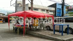 Automobile, Awning, Building, Bus, Cafe, Cafeteria, Canopy, Car, Chair, City, Countryside, Flagstone, Food, Food Court, Furniture, Human, Kiosk, Machine
