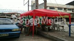 Alloy Wheel, Apparel, Automobile, Awning, Back, Bazaar, Bicycle, Bike, Building, Cafe, Cafeteria, Canopy, Car, City, Clothing, Dirt Road, Food, Food Court, Gravel, Human, Kiosk, Machine, Market, Metropolis, Motorcycle