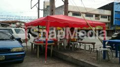 Automobile, Awning, Building, Bus, Cafe, Cafeteria, Canopy, Car, Chair, City, Countryside, Food, Food Court, Furniture, Human, Kiosk, Machine, Meal, Nature, Neighborhood