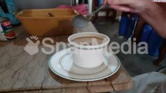 Beverage, Coffee Cup, Cup, Drink, Food, Human, Latte, Milk, Person, Pottery, Saucer, Wood