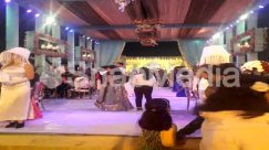 Apparel, Audience, Auditorium, Back, Ballroom, Building, Cell Phone, Chair, Clothing, Crowd, Decorate, Dining Table, Dress, Evening Dress, Fashion, Female, Flamenco, Flower Arrangement, Food, Food Court, Footwear, Furniture, Gown, Hall, Interior Design, Lawn, Lighing, Light, Marriage Function, Night, Photography