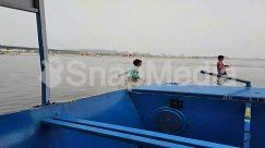 Apparel, Arecaceae, Barge, Blue Sky, Boat, Bridge, Canoe, Child, Dinghy, Human, Kid, Nature, Paddle, Person, Pier, Port, Rowboat, Ship, Shorts, Sun Light, Water