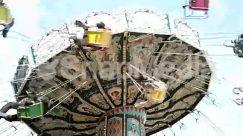 Amusement Park, Art, Blue Sky, Child, Column, Hammock, Hanging-stage, Nature, Palm Tree, Sun Light, Swinging