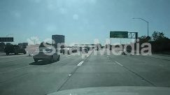 Asphalt, Automobile, Building, Car, City, Freeway, Highway, Intersection, License Plate, Machine, Metropolis, Nature, Overpass, Road, Sedan, Street, Tarmac, Town, Transportation, Truck, Urban, Vehicle