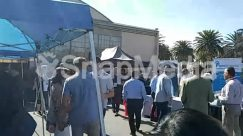Awning, Building, Canopy, Crowd, hangar 244 irvine, Human, People, SoCal Startup Day