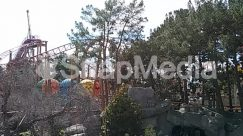 Amusement Park, Animal, Building, Coaster, Construction Crane, House, Housing, Outdoor Play Area, Outdoors, Plant, Play Area, Playground, Roller Coaster, Theme Park, Tree, Vegetation, Villa, Water, Water Park, Zoo
