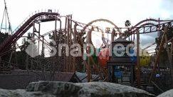 Amusement Park, Bridge, Building, Coaster, Construction Crane, Roller Coaster, Theme Park