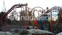 Amusement Park, Bridge, Building, Coaster, Construction Crane, Human, Person, Roller Coaster, Theme Park