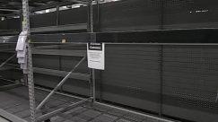 coronavirus, empty shelf, no inventory, no toilet paper, Shelf, Steel, walmart