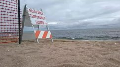 balboa beach, Barricade, Beach, beach closed, Coast, coronavirus, covid-19, Fence, lockdown, Ocean, Outdoors, Panoramic, Sand, Sea, Shoreline, shutdown, the wedge