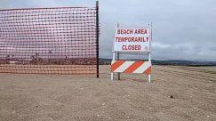 balboa beach, Barricade, beach closed, coronavirus, covid-19, Fence, lockdown, shutdown, Sign, the wedge