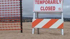 balboa beach, Barricade, beach closed, coronavirus, covid-19, Fence, lockdown, Ocean, shutdown, the wedge
