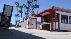 Person, Human, Shorts, Amusement Park, Theme Park, Ferris Wheel, Food, Machine, Building, Urban, Kiosk, City, Social distancing, newport beach ca, fun zone balboa