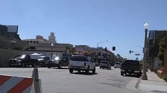 Vehicle, Transportation, Car, Automobile, Traffic Light, Light, Human, Person, Road, City, Building, Urban, Town, Street, Downtown, newport beach ca