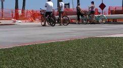 Person, Human, Bike, Vehicle, Transportation, Bicycle, Sport, Sports, Cyclist, Road, People, Asphalt, Tarmac, Pedestrian, Building