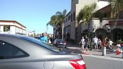Person, Pedestrian, Transportation, Vehicle, Car, Automobile, Building, Road, Neighborhood, Downtown, Street, Social distancing, huntington beach, main street