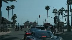 Human, Person, Traffic Light, Light, Car, Vehicle, Transportation, Automobile, Bike, Bicycle, Road, Urban, Building, huntington beach protest, Social distancing