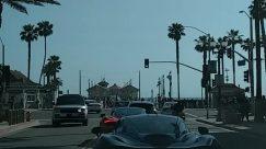 Light, Traffic Light, Human, Person, Automobile, Transportation, Car, Vehicle, Road, Pedestrian, Convertible, Utility Pole, Grand Theft Auto, Path, Lamp Post