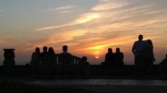 Nature, Outdoors, Person, Human, sky, Silhouette, Sunrise, Red Sky, Sunset, Dusk, Dawn, Sun, Cloud, People, Sunlight, Social distancing