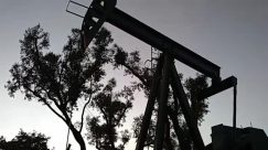 pump jack,Tree,Silhouette