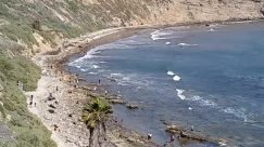 Nature, Water, Ocean, Outdoors, Sea, Shoreline, Coast, Person, Beach, Sea Waves, Rock, Tsunami, Cave, Cove, Sand