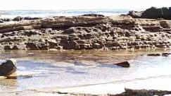 Rock, Nature, Outdoors, Water, Sea, Ocean, Shoreline, Coast, Oars, Building, Vehicle, Transportation, River, Mountain, Beach