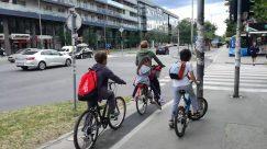 Bicycle, Bike, Transportation, Vehicle, Machine, Wheel, Person, Road, Intersection, Automobile, Car, Asphalt, Tarmac, Sport, Sports
