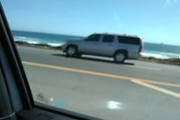 driving along coast, ocean, Road, Asphalt, Automobile, Car, Highway, Traffic Light