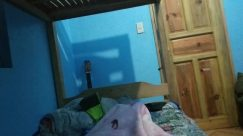 Blanket, Furniture, Room, Bedroom, Bed, Building, Housing, Electronics, Screen, Monitor, Display, Wood, Cushion, Pillow, Chair