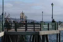 Water, Waterfront, Dock, Pier, People, Boardwalk, Path, Pedestrian, Railing