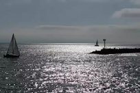 Vehicle, Boat, Watercraft, Vessel, Sailboat, Water, Ocean, Sea, Sky, Yacht, Silhouette, Shoreline, Coast, Ship, Building