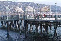 Water, Waterfront, Dock, Pier, Port, Bridge, Building, People, Boardwalk
