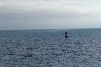 Ocean, Sea, Water, Vehicle, Submarine, Military, Navy, Shoreline, Coast, Sky, Boat, Sea Waves, Watercraft, Vessel, Landscape