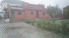 Yard, Fence, Patio, Building, Rural, Countryside, Shelter, Porch, Urban, Backyard, Rug, Prison, Housing, Slate, Zoo