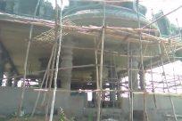Tree, Plant, Construction, Tree Trunk, Scaffolding, Ground, Porch, Oak, Pottery, Vase, Potted Plant, Jar, Patio, Flame, Bonfire