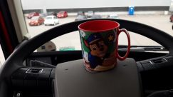 Coffee Cup, Cup, Automobile, Car, Vehicle, Helmet, Wheel, Pottery, Mirror, Cushion, Beverage, Drink, Latte, Tire, Saucer