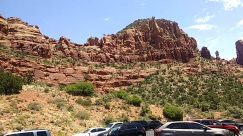 Mountain, Automobile, Car, Vehicle, Cliff, Sedan, Valley, Rock, Wilderness, Canyon, Mesa, Tree, Plant, Ground, Tire