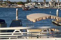 Boat, Vehicle, Waterfront, Water, Yacht, Vessel, Watercraft, Canopy, Pier, Dock, Harbor