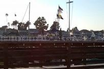 Building, Water, Waterfront, Vehicle, Pier, Dock, Port, Bridge, Boardwalk, Symbol, Flag, Vessel, Watercraft, Rail, Train Track