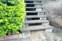 Staircase, Bush, Vegetation, Plant, Slate, Building, Housing, Path, Walkway, Road, House, Countryside, Gravel, Dirt Road, Trail