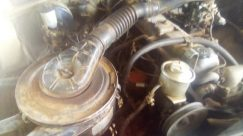 Engine, Motor, Helmet, Milk, Drink, Beverage, Sea Life, Food, Lobster, Seafood, Drive Shaft, Hose, Wiring, Vehicle, Bike