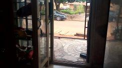 Automobile, Car, Vehicle, Door, French Door, Wheel, Sliding Door, Folding Door, Window, Building, City, Town, Picture Window