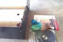 Furniture, Chair, Box, Diaper, Cardboard, Cushion, Carton, Plastic Bag, Plastic, Bag, Brick, Building, Housing, Trash, Floor