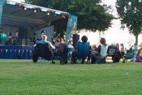 Van, concert, concert in park